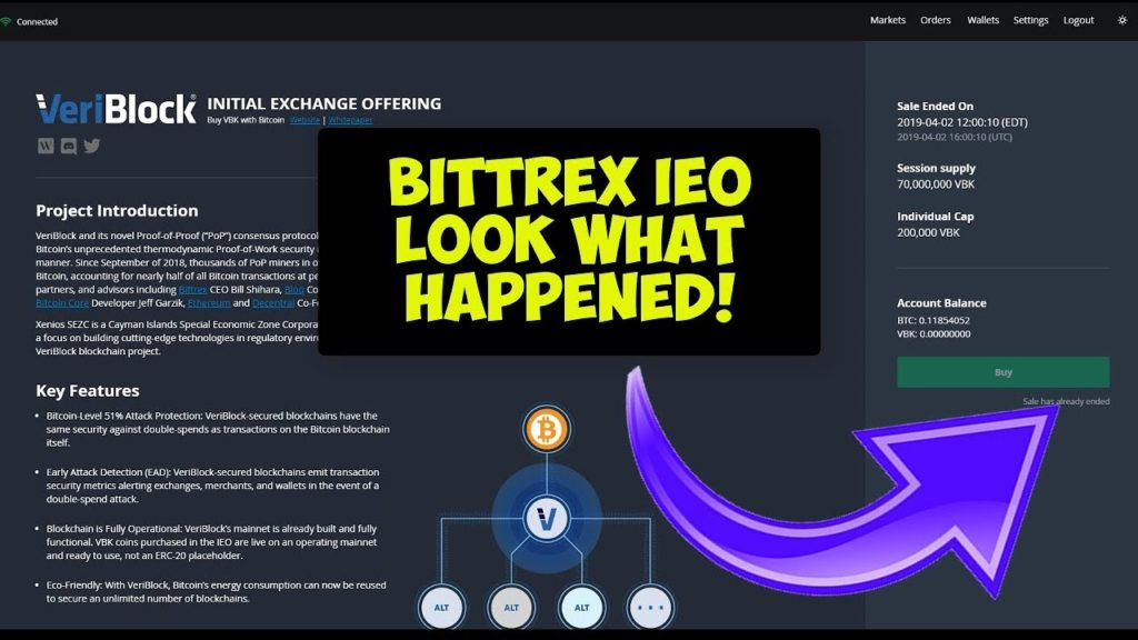 Investing Into Bittrex IEO Veriblock Here's What Happened!